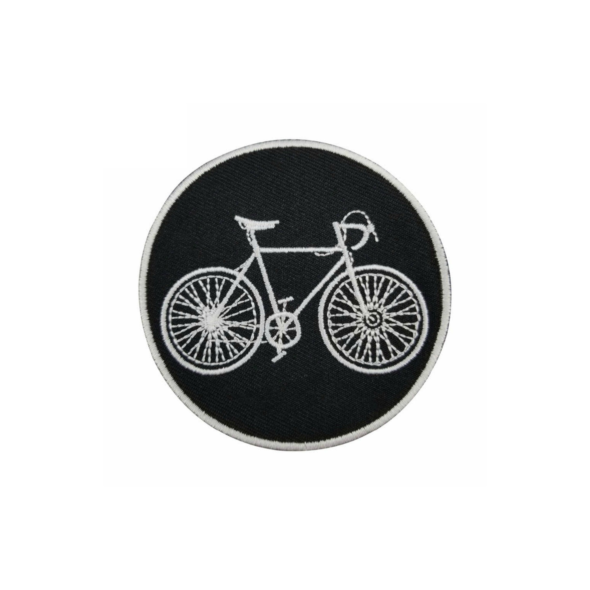 Vintage Bicycle Iron On Patch - Minimum Mouse