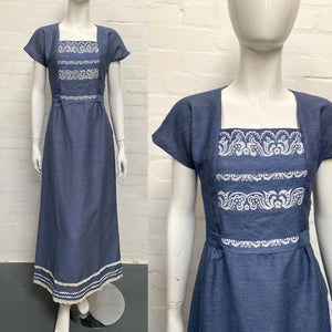 Vintage Blue Prairie Maxi Dress - Minimum Mouse