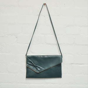 Vintage Faux Leather Green Bow Shoulder Bag - Minimum Mouse