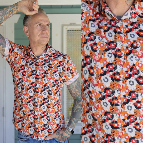 Vinyl Print Shirt by Run and Fly in Orange - Minimum Mouse