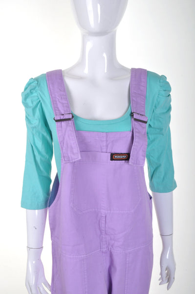 Violet Pastel Dungarees by Run and Fly - Minimum Mouse