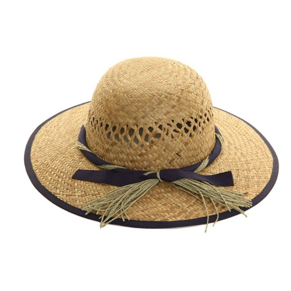 Wide Brim Straw Hat - Minimum Mouse