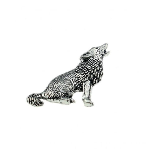 Wolf Pewter Lapel Pin Badge - Minimum Mouse