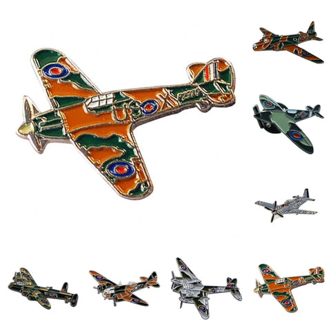World War 2 Aircraft Aeroplane Enamel Lapel Pin Badge - Minimum Mouse