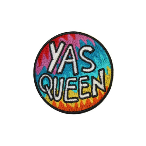 Yas Queen Iron On Patch - Minimum Mouse