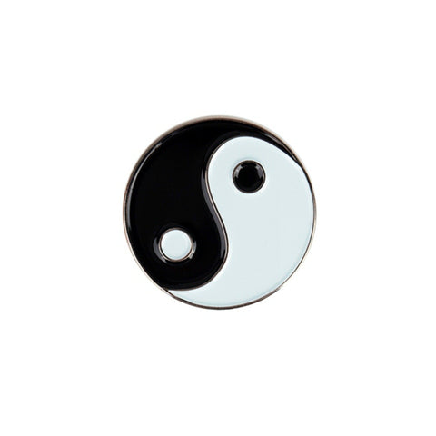 Yin Yang Lapel Pin Badge - Minimum Mouse