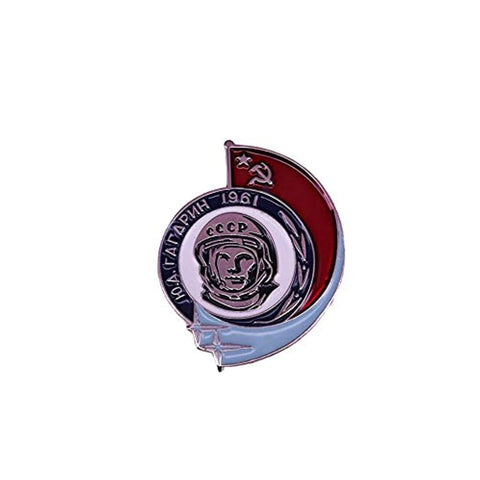 Yuri Gagarin Soviet Union Space Race Lapel Pin Badge - Minimum Mouse