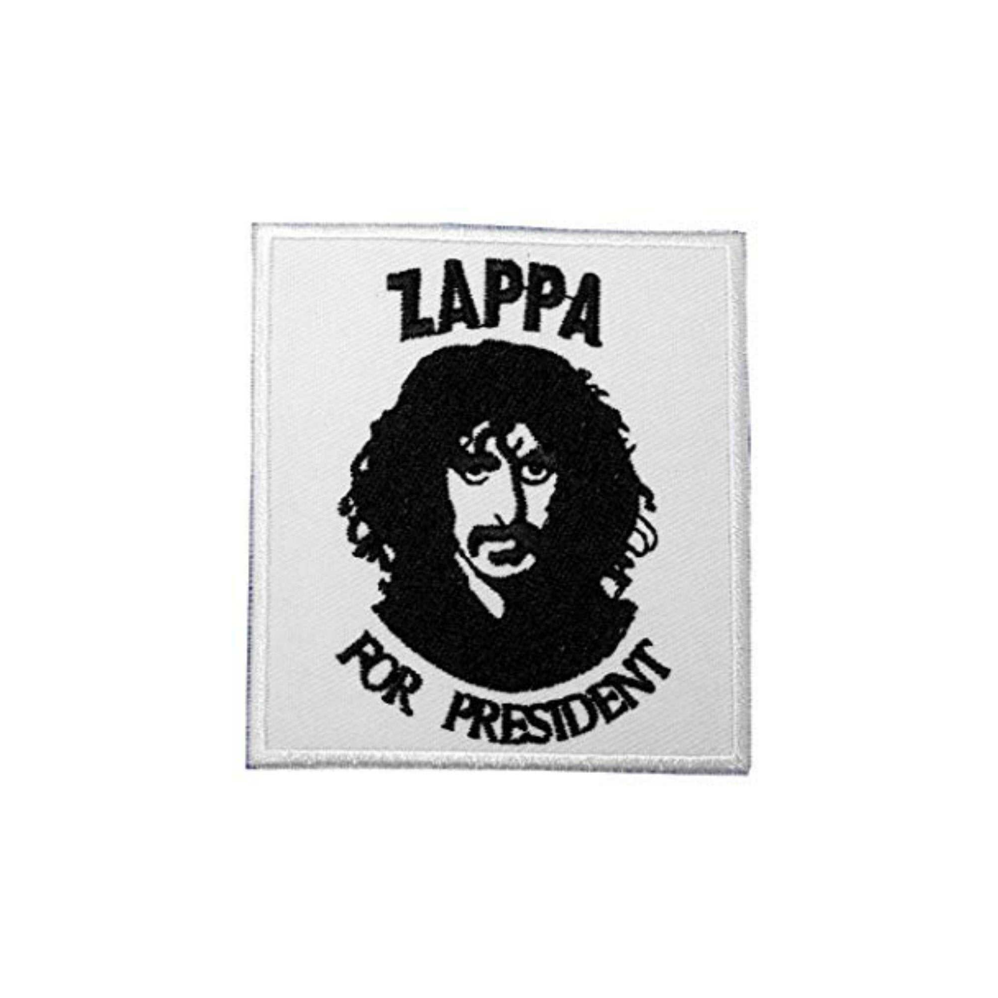 Zappa For President Iron On Patch - Minimum Mouse