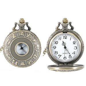 Zodiac Symbols Quartz Pocket Watch - Minimum Mouse