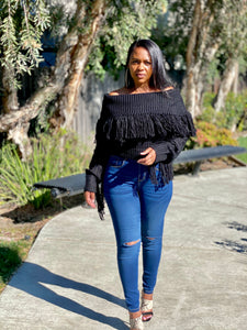 Sherah Fringe Sweater
