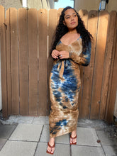 Load image into Gallery viewer, Persis Mocha Tye Dyed Maxi Dress