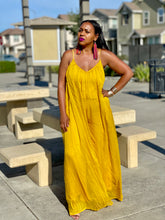 Load image into Gallery viewer, Carmel Mustard Chiffon Jumpsuit
