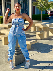Bilhah Denim Tube Top