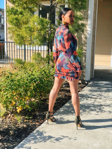 floral spring multicolor mini dress day 3 boutique