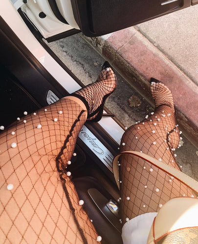 Pearl Mesh Stockings - Day 3 Boutique
