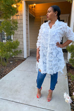 Load image into Gallery viewer, Lydia Feather Shirt/Dress - Day 3 Boutique
