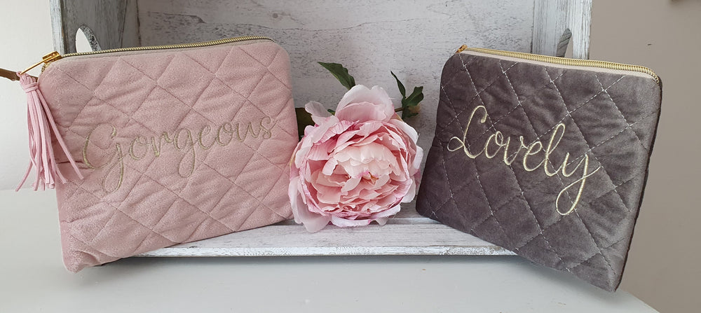Lovely/Gorgeous Quilted Make up bag