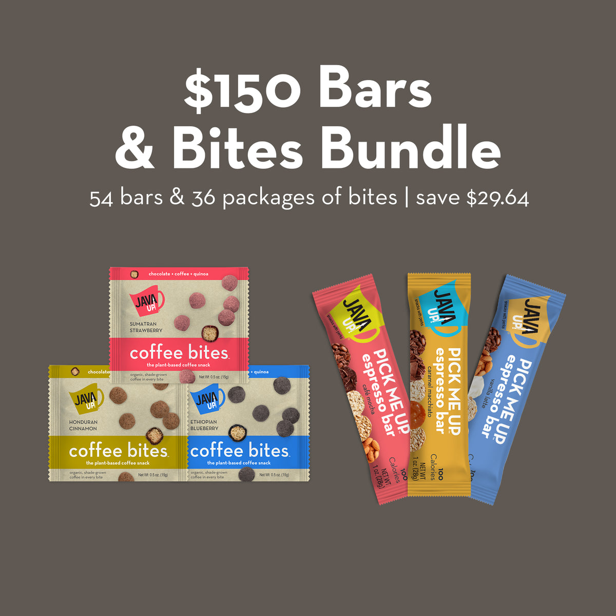 $150 Variety Bundle - 54 Bars and 36 Bites - FREE SHIPPING