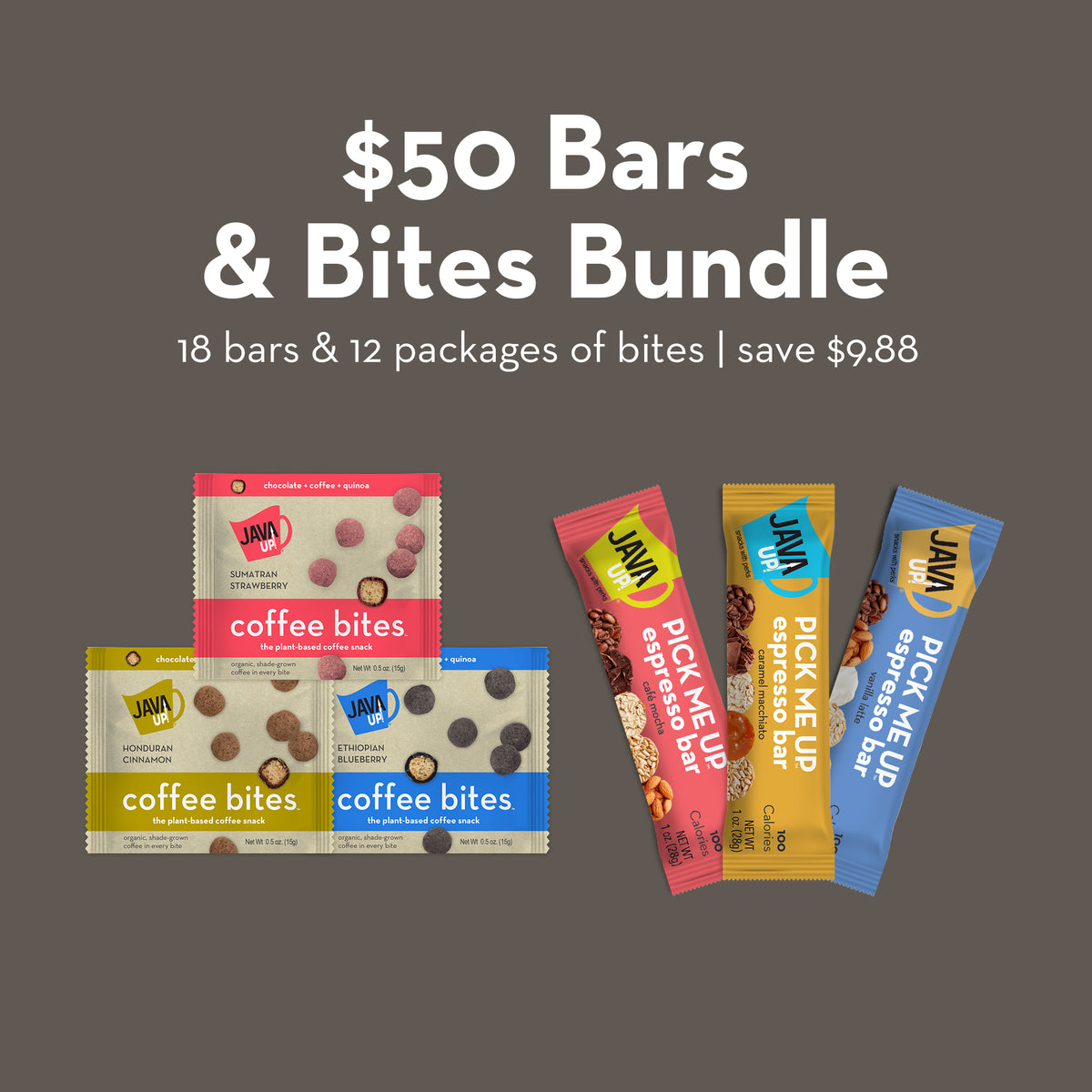 $50 Variety Bundle - 18 Bars and 12 Bites - FREE SHIPPING