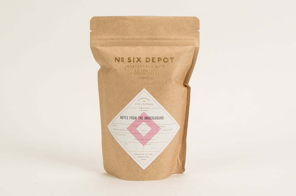 """Notes From The Underground"" Organic Coffee Beans - Espresso Blend"