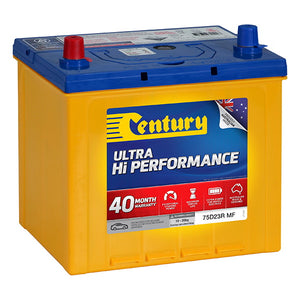 Century Ultra Hi Performance Battery	75D23R MF 620CCA 120RC 70AH
