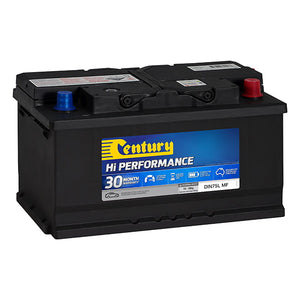 Century Hi Performance Battery DIN75L MF 730CCA 135RC 80AH