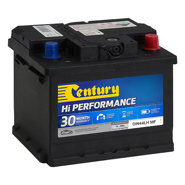 Century Hi Performance Battery DIN44LH MF 420CCA 85RC 50AH