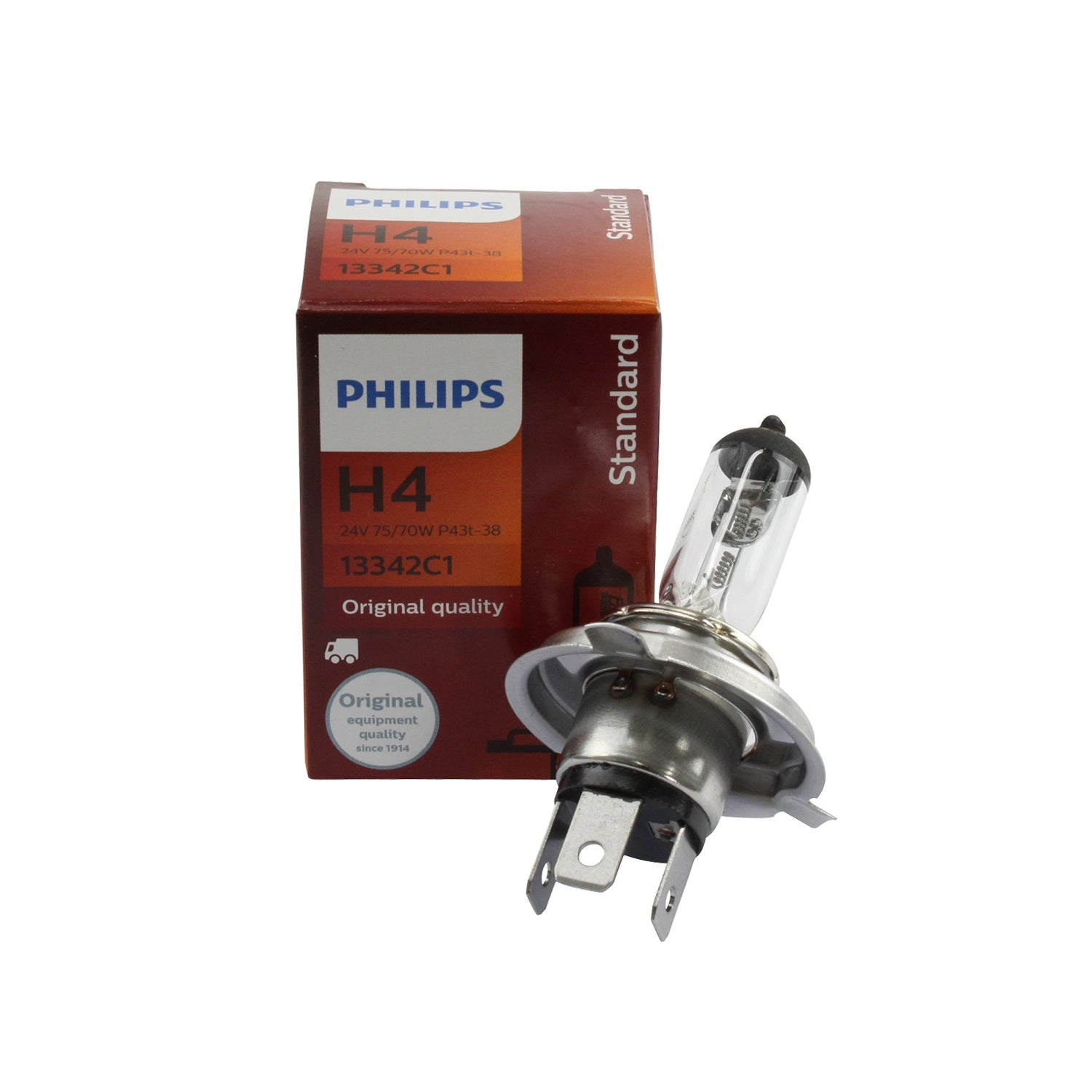 13342 Philips Halogen Globe/H4 24V 75/70W ST | Globes | Perth Pro Auto electric parts