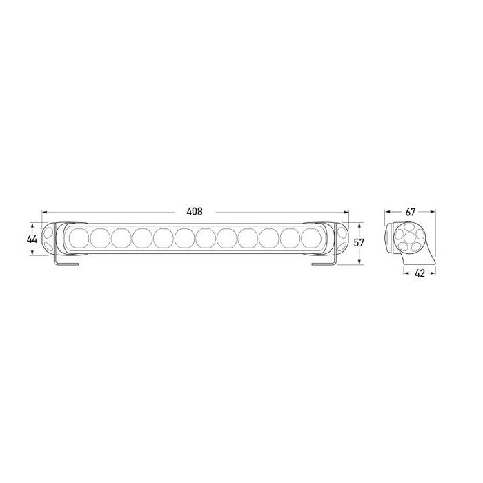 Hella LED Light Bar 350 - HD Bracket - High Beam