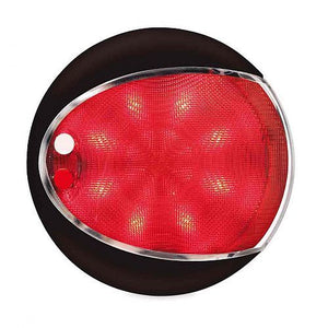 Hella - Euro LED Touch Lamp Red/White Dual Colour, Black Cover