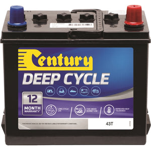 Century Flooded Deep Cycle Battery 43T 12Volts 40AH