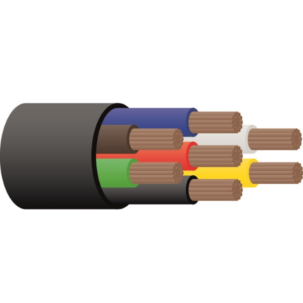 3mm or 4mm 7Core Trailer Cable Tycab
