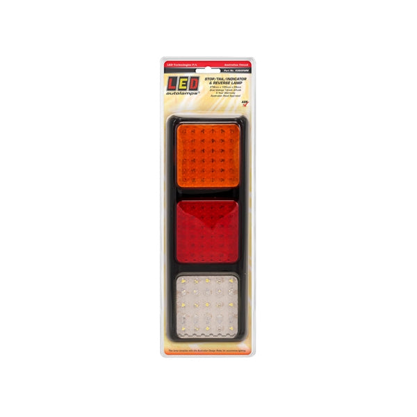 LED-80BARWM LED Autolamps LED Stop/Tail/Indicator/Reverse Lamp 12-24V 278x100x28mm | Stop/Tail/Indicator Lights | Perth Pro Auto Electric Parts