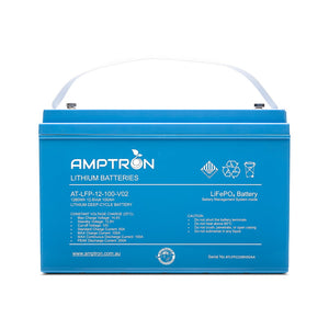 Amptron Lithium Battery 12V 100 Ah / 100A Continuous discharge LiFePO4