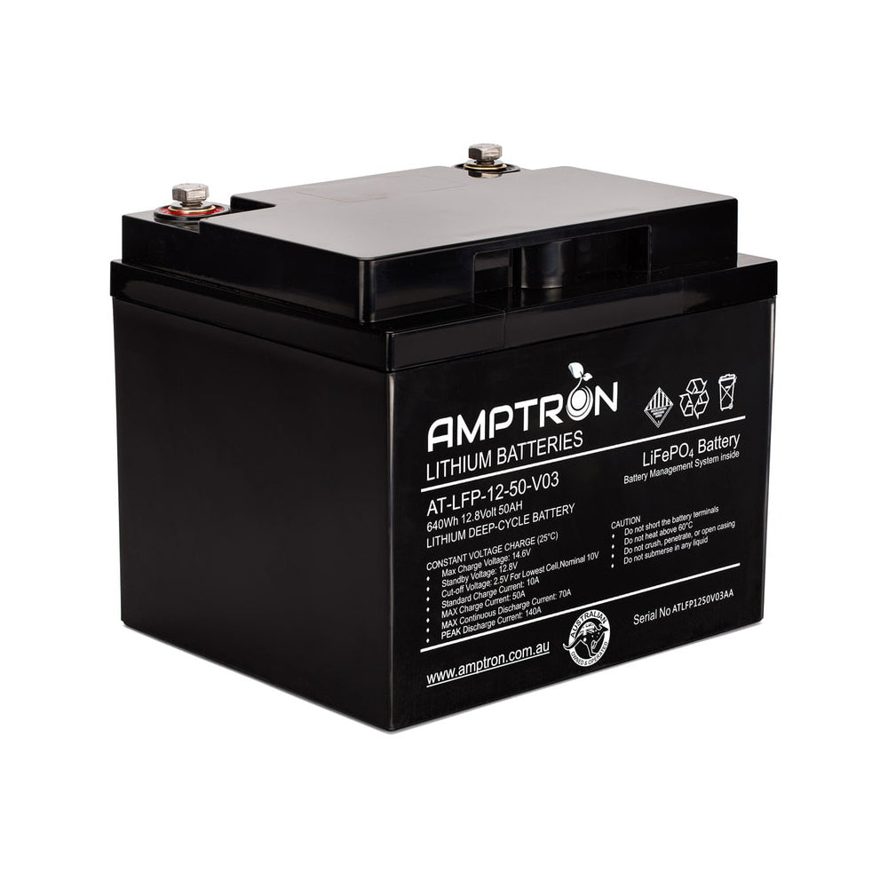 Amptron Lithium Battery 12V 50 Ah / 50A Continuous discharge LiFePO4