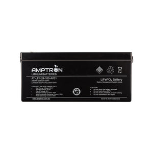 Amptron Lithium Battery 24V 100 Ah / 100A Continuous discharge LiFePO4