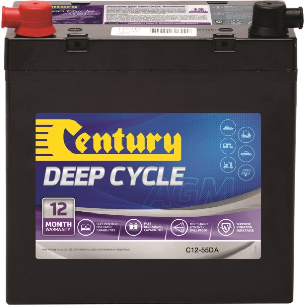 Century Deep Cycle AGM Battery C12-55XDA 12Volts 58AH