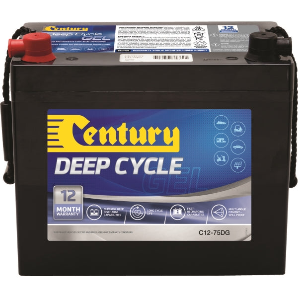 Century Deep Cycle Battery Gel C12-75DG 12Volts 70AH