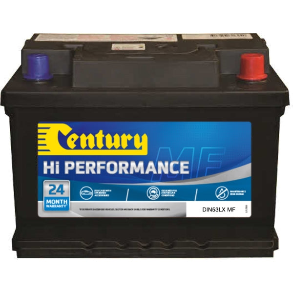 Century Hi Performance Battery DIN53LX MF 600CCA 105RC 60AH