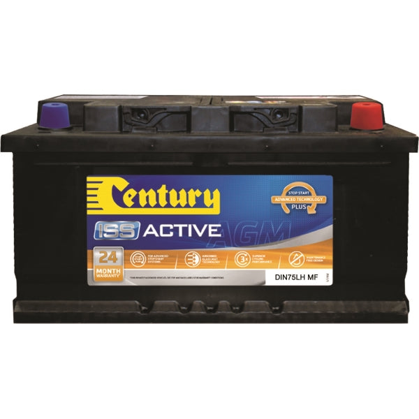 Century ISS Active Battery AGM DIN75LH MF 800CCA 140RC 80AH