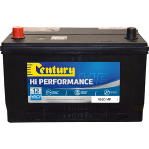 Century Hi Performance Battery N65D MF 750CCA 135RC 80AH