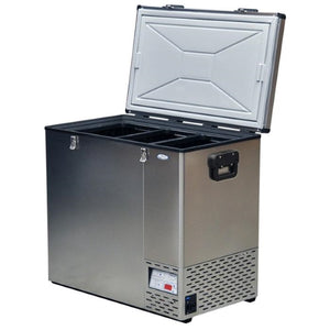 National Luna 125L with 8 Baskets Fridge/Freezer Stainless Steel