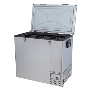 National Luna Legacy 125L with 8 Baskets Fridge/Freezer Stainless Steel