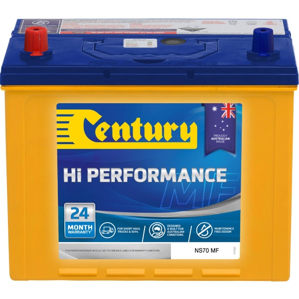 Century Hi Performance Battery NS70 MF 650CCA 140RC 75AH
