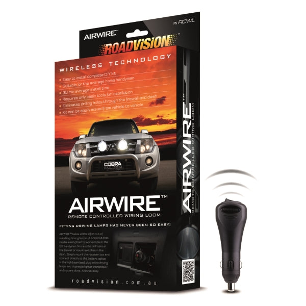 Roadvision Airwire Universal Remote Control Wiring Loom Kit for Driving&Work Lamps