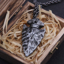 "Load image into Gallery viewer, ""Viking Vegvisir"" Necklace/ ""Helm of Awe"" Necklace"