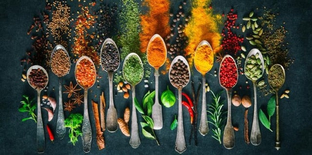 HERBS AND SPICES CANVAS