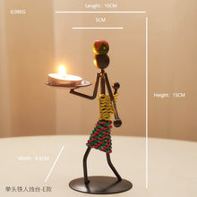 Load image into Gallery viewer, AFRICANA CANDLE HOLDER