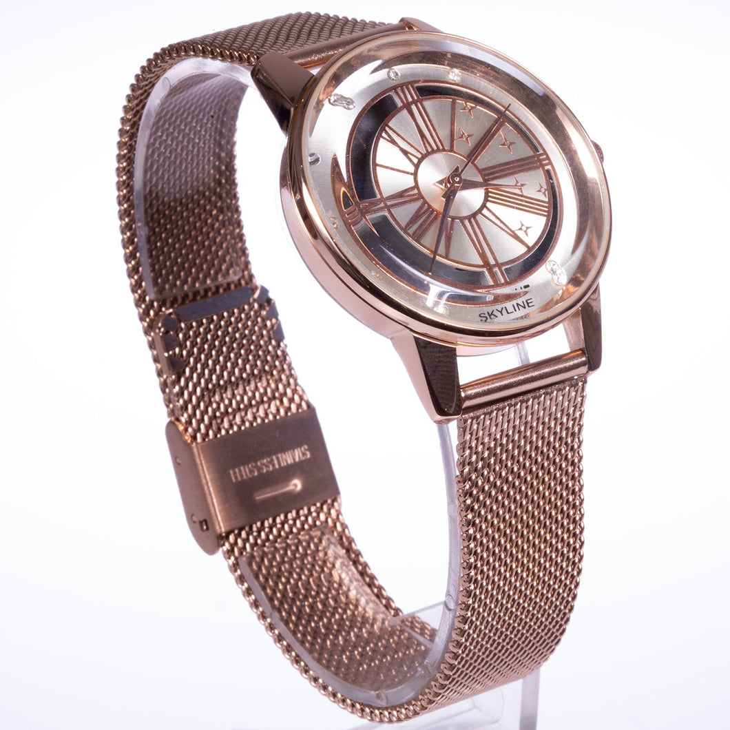 Rose alloy watch