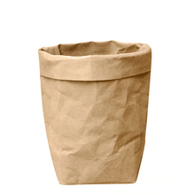 Load image into Gallery viewer, Classic Greensy Washable Paper Bag - Brown - TheGreensy